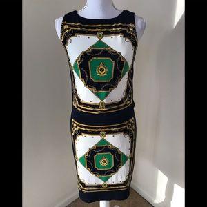 Lauren Ralph Lauren SZ 2, navy combo sheath dress